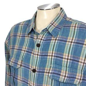 Lucky Brand 100% Irish Linen Button Shirt